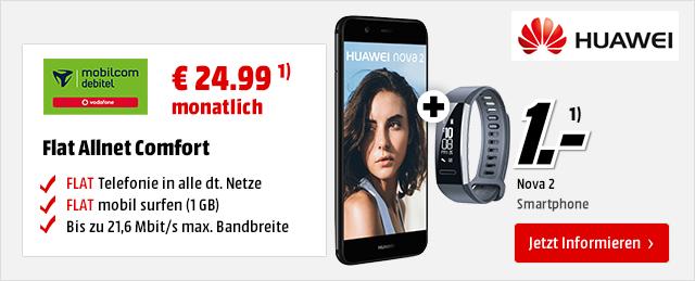 Huawei Nova 2 für € 1.-