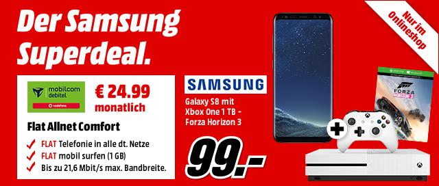 Samsung Galaxy S8 mit Xbox One 1 TB - Forza Horizon 3 für € 99.-