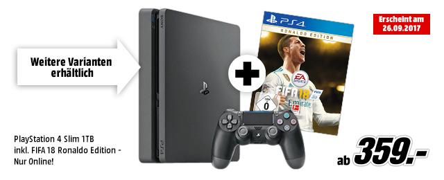 PS4 Slim 1 TB inkl. Fifa18 Ronaldo Edition