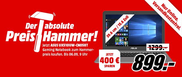 Preishammer - Asus UX510UW für nur 899 Euro.