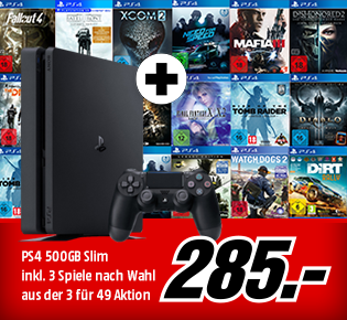 PS4 500GB SLIM + 3 für 49