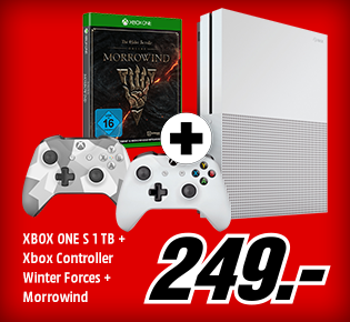 XBOX ONE S 1 TB + Xbox Controller Winter Forces + Morrowind